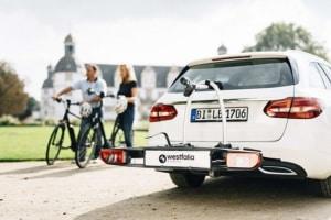 Fahrradträger auf der Anhängerkupplung
